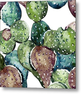 Green Cactus  Metal Print by Mark Ashkenazi