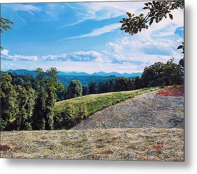 Green Country Metal Print by Joshua Martin