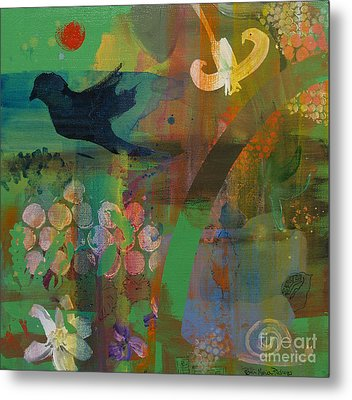 Metal Print featuring the painting Green Glory  by Robin Maria Pedrero