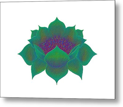 Metal Print featuring the digital art Green Lotus by Elizabeth Lock