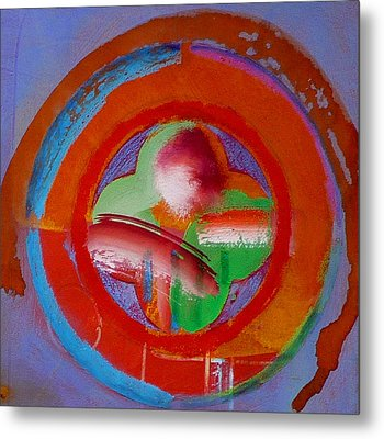 Metal Print featuring the painting Green Planet  by Charles Stuart