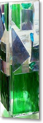 Metal Print featuring the glass art Green Vase by Jamie Frier