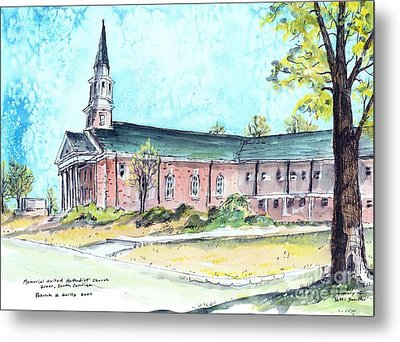Greer United Methodist Church Metal Print by Patrick Grills