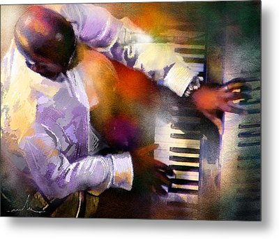 Greg Phillinganes From Toto Metal Print by Miki De Goodaboom