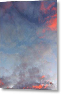 Pink Flecked Sky Metal Print by Linda Hollis