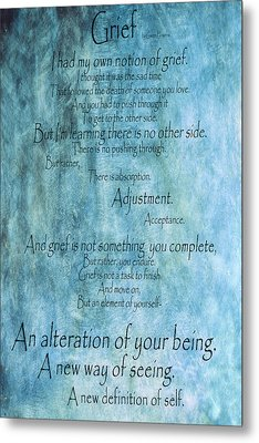 Metal Print featuring the mixed media Grief 2 by Angelina Vick