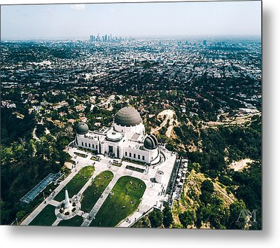 Griffith Observatory And Dtla Metal Print