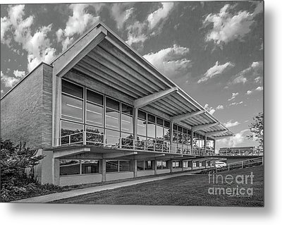 Grinnell College Burling Library  Metal Print by University Icons