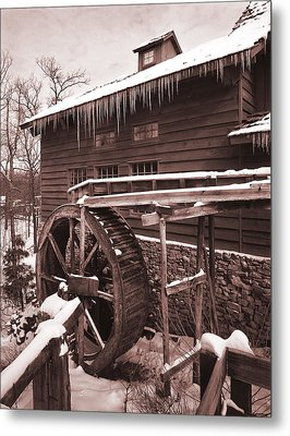 Grist Mill At Siver Dollar City Metal Print by Garry McMichael