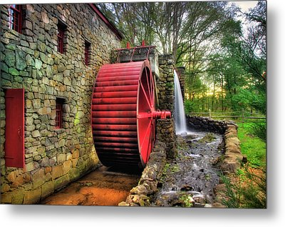 Grist Mill In Autumn Metal Print