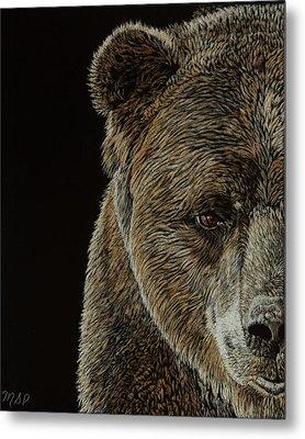 Grizzly Eye Metal Print