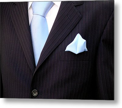 Groom's Torso Metal Print by Carlos Caetano