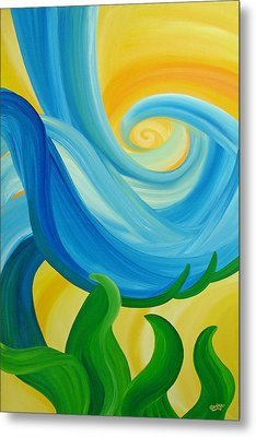 Metal Print featuring the painting Growth by Ginny Gaura