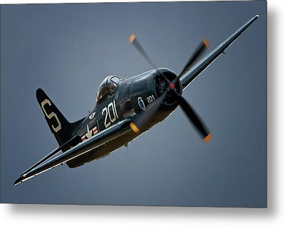 Grumman F8f Bearcat 201   2011 Chino Air Show Metal Print by Gus McCrea