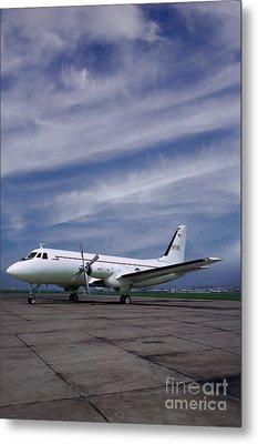 Grumman G-159 Gulfstream Patiently Waits, N719g Metal Print by Wernher Krutein