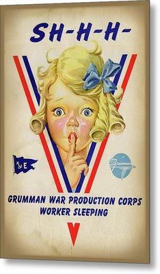 Grumman Worker Sleeping Poster Metal Print