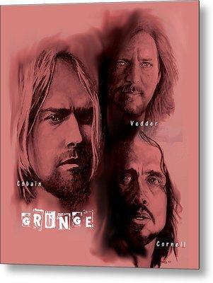 Grunge Metal Print