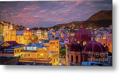Guanajuato Twilight Panorama Metal Print