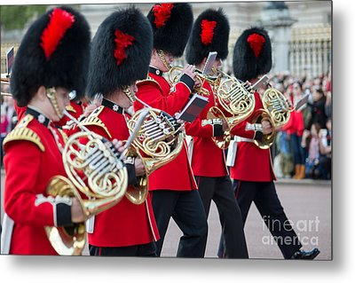guards band at Buckingham palace Metal Print