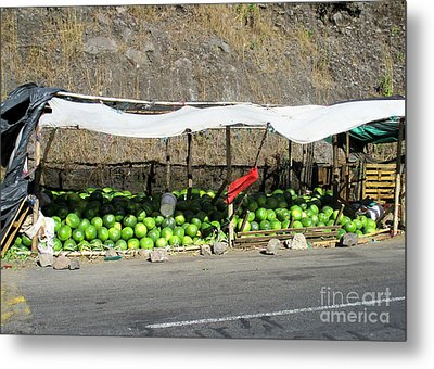 Guatemala Stand 2 Metal Print by Randall Weidner