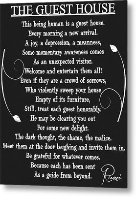 Guest House Poem Rumi Metal Print
