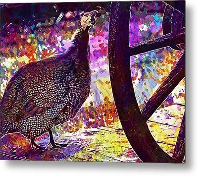 Guinea Fowl Guinea Fowl Chicken  Metal Print