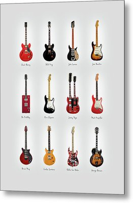 Guitar Icons No1 Metal Print