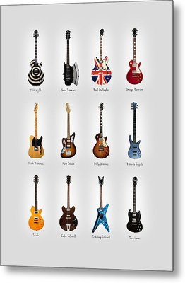Guitar Icons No3 Metal Print by Mark Rogan