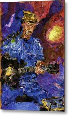 Guitar Man Metal Print by Shirley Stalter