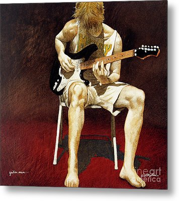 Guitar Man... Metal Print