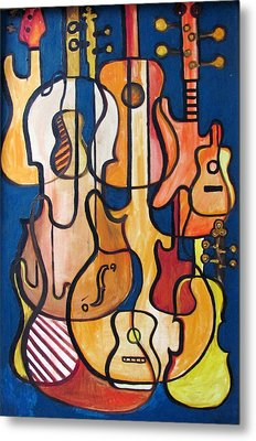 Guitars And Fiddles Metal Print by Douglas Pike