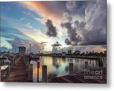 Gulfport Harbor Colors Metal Print