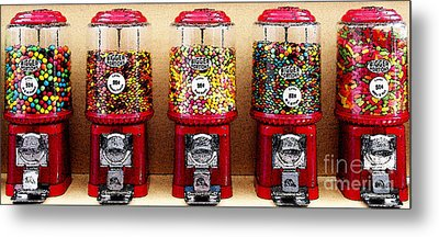 Gumball 5 . Digital Interpretation Metal Print by Wingsdomain Art and Photography