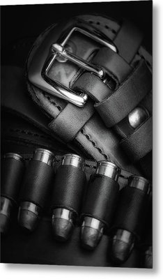 Gunbelt Metal Print by Tom Mc Nemar