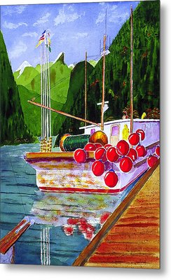 Gunboat Slough Bouys Metal Print by Buster Dight