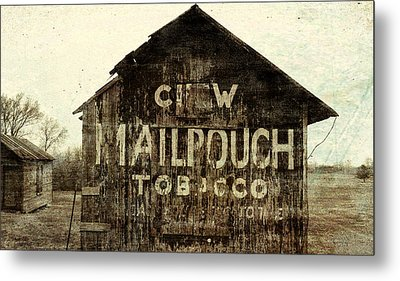 Gunge Mail Pouch Tobacco Barn Metal Print