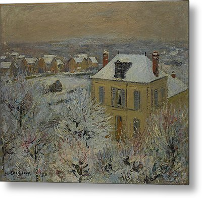Gustave Loiseau    House In Winter Metal Print