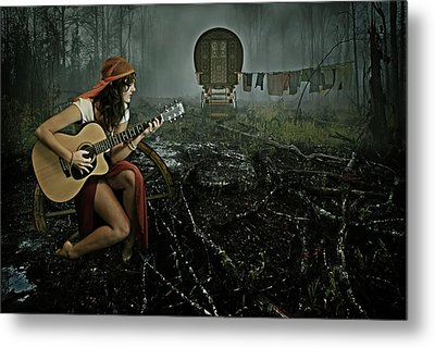 Gypsy Life Metal Print by Mihaela Pater