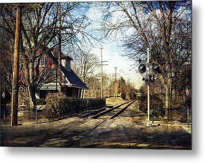 Haddon Heights Train Station Metal Print by John Rivera