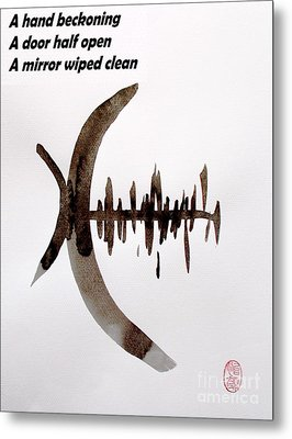 Haiku Poem And Painting Metal Print by Roberto Prusso