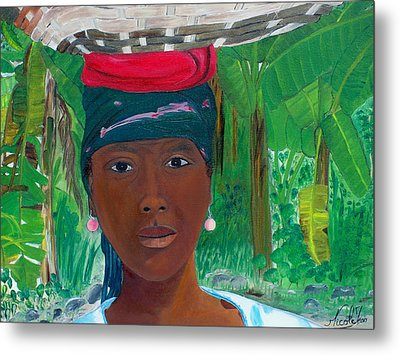 Haitian Woman   2 Metal Print by Nicole Jean-Louis