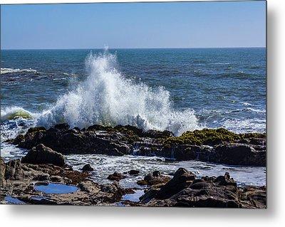 Cal Coast Wave Crash 1 Metal Print