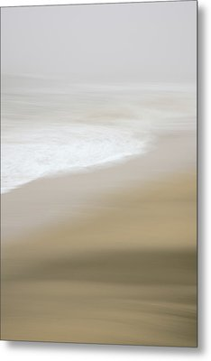 Metal Print featuring the photograph Half Moon Bay - Impressions by Francesco Emanuele Carucci