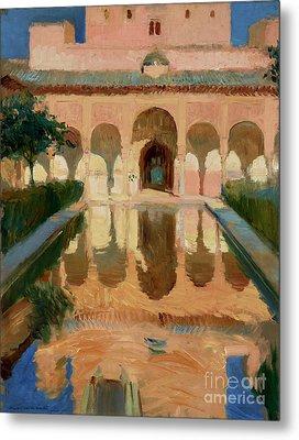 Hall Of The Ambassadors, Alhambra, Granada By Joaquin Sorolla Y Bastida Metal Print by Esoterica Art Agency