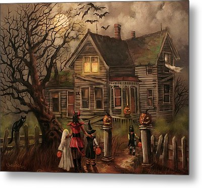 Halloween Dare Metal Print