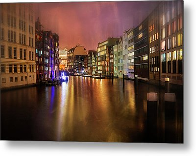 Hamburg By Night  Metal Print by Carol Japp