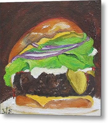 Hamburger Heaven Metal Print by Irit Bourla