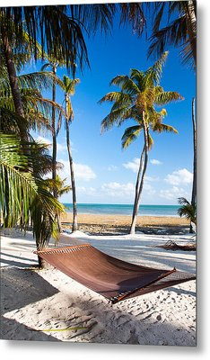 Hammock In Paradise Metal Print by Adam Pender