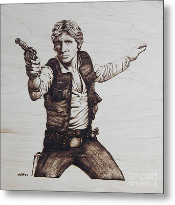 Han Solo Metal Print by Chris Wulff