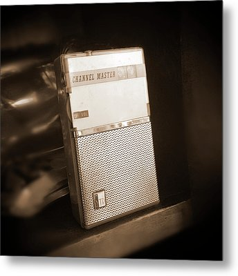 Hand Held Transistor Radio Metal Print by Mike McGlothlen
